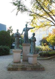 ザビエルと薩摩人の像