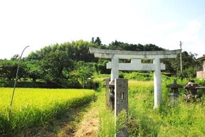 高子岡城 入口
